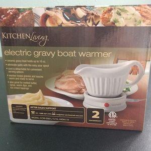 NIB Gravy Boat Warmer